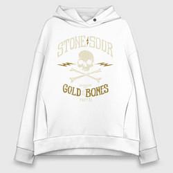 Толстовка оверсайз женская Stone Sour: Gold Bones цвета белый — фото 1