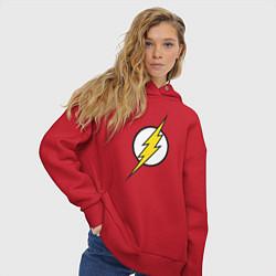 Толстовка оверсайз женская Flash цвета красный — фото 2