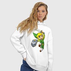 Толстовка оверсайз женская The Legend of Zelda цвета белый — фото 2