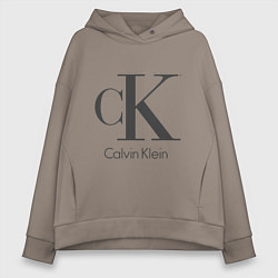 Толстовка оверсайз женская Calvin Klein цвета утренний латте — фото 1