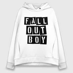 Толстовка оверсайз женская Fall Out Boy: Words цвета белый — фото 1