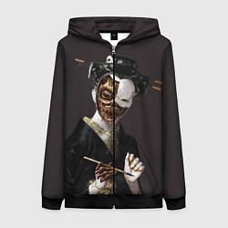 Толстовка на молнии женская Ghost In The Shell 1 цвета 3D-черный — фото 1
