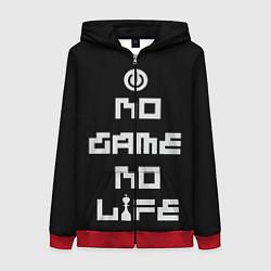 Толстовка на молнии женская NO GAME NO LIFE цвета 3D-красный — фото 1