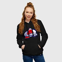 Толстовка-худи хлопковая женская Colorado Avelanche цвета черный — фото 2