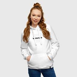 Толстовка-худи хлопковая женская VOLVO цвета белый — фото 2