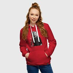 Толстовка-худи хлопковая женская Wanda цвета красный — фото 2