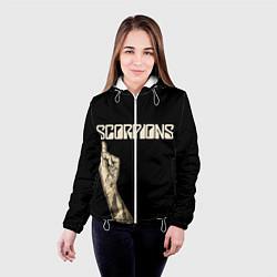 Куртка с капюшоном женская Scorpions Rock цвета 3D-белый — фото 2