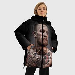 Женская зимняя 3D-куртка с капюшоном с принтом Conor McGregor, цвет: 3D-черный, артикул: 10102381406071 — фото 2