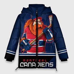 Женская зимняя 3D-куртка с капюшоном с принтом Montreal Canadiens, цвет: 3D-черный, артикул: 10106980106071 — фото 1