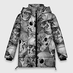 Женская зимняя 3D-куртка с капюшоном с принтом Хэллуин 8, цвет: 3D-черный, артикул: 10110689306071 — фото 1