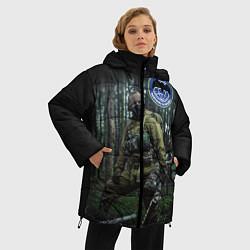 Куртка зимняя женская Военная разведка цвета 3D-черный — фото 2