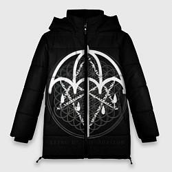 Женская зимняя 3D-куртка с капюшоном с принтом BMTH: Rain Symbol, цвет: 3D-черный, артикул: 10112867606071 — фото 1