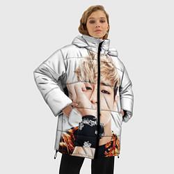Женская зимняя 3D-куртка с капюшоном с принтом Kim TaeHyung, цвет: 3D-черный, артикул: 10114634906071 — фото 2