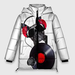 Женская зимняя 3D-куртка с капюшоном с принтом DJ бульдог, цвет: 3D-черный, артикул: 10117899806071 — фото 1