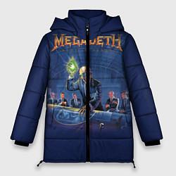 Женская зимняя 3D-куртка с капюшоном с принтом Megadeth: Rust In Peace, цвет: 3D-черный, артикул: 10118735606071 — фото 1