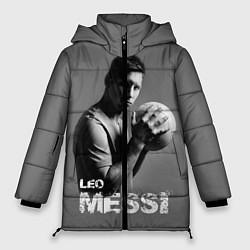 Женская зимняя 3D-куртка с капюшоном с принтом Leo Messi, цвет: 3D-черный, артикул: 10123452806071 — фото 1