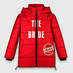 Куртка зимняя женская Невеста в красном цвета 3D-черный — фото 1