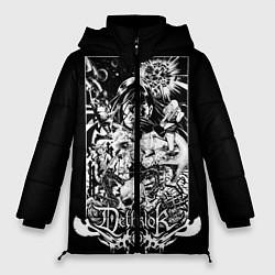 Женская зимняя 3D-куртка с капюшоном с принтом Dethklok: Metalocalypse, цвет: 3D-черный, артикул: 10134388906071 — фото 1