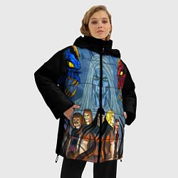 Женская зимняя 3D-куртка с капюшоном с принтом Dethklok: Heroes, цвет: 3D-черный, артикул: 10134389106071 — фото 2