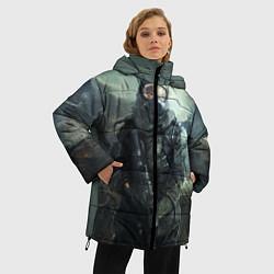 Женская зимняя 3D-куртка с капюшоном с принтом STALKER, цвет: 3D-черный, артикул: 10135205306071 — фото 2