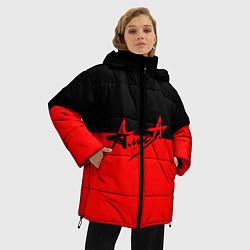 Куртка зимняя женская АлисА: Черный & Красный цвета 3D-черный — фото 2