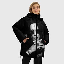 Женская зимняя 3D-куртка с капюшоном с принтом Оззи Осборн, цвет: 3D-черный, артикул: 10138077306071 — фото 2