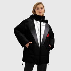 Куртка зимняя женская Смокинг мистера цвета 3D-черный — фото 2