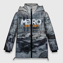 Женская зимняя 3D-куртка с капюшоном с принтом Metro: Last Light, цвет: 3D-черный, артикул: 10144520906071 — фото 1