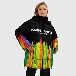 Женская зимняя 3D-куртка с капюшоном с принтом Imagine Dragons: Radioactive, цвет: 3D-черный, артикул: 10149906706071 — фото 2