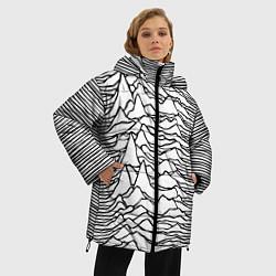 Женская зимняя 3D-куртка с капюшоном с принтом White Pleasures, цвет: 3D-черный, артикул: 10152526906071 — фото 2