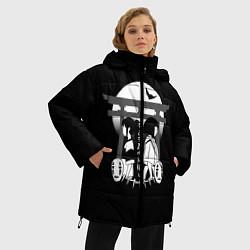 Женская зимняя 3D-куртка с капюшоном с принтом Унесённые призраками, цвет: 3D-черный, артикул: 10156080106071 — фото 2
