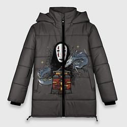 Женская зимняя 3D-куртка с капюшоном с принтом Унесенные призраками, цвет: 3D-черный, артикул: 10156081306071 — фото 1