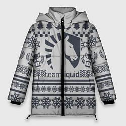 Женская зимняя 3D-куртка с капюшоном с принтом Team Liquid: Grey Winter, цвет: 3D-черный, артикул: 10156135106071 — фото 1