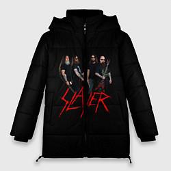 Женская зимняя 3D-куртка с капюшоном с принтом Slayer Band, цвет: 3D-черный, артикул: 10156552506071 — фото 1