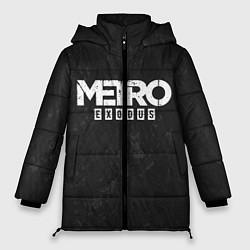 Женская зимняя 3D-куртка с капюшоном с принтом Metro Exodus: Space Grey, цвет: 3D-черный, артикул: 10160285906071 — фото 1