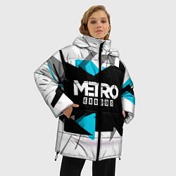 Женская зимняя 3D-куртка с капюшоном с принтом Metro: Exodus Sky, цвет: 3D-черный, артикул: 10161591106071 — фото 2
