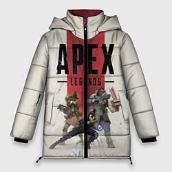 Женская зимняя 3D-куртка с капюшоном с принтом Apex Legends, цвет: 3D-черный, артикул: 10172288706071 — фото 1