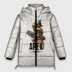 Женская зимняя 3D-куртка с капюшоном с принтом Apex Legends, цвет: 3D-черный, артикул: 10172803706071 — фото 1