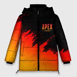 Женская зимняя 3D-куртка с капюшоном с принтом Apex Sprite, цвет: 3D-черный, артикул: 10173229906071 — фото 1
