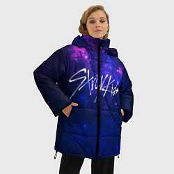Женская зимняя 3D-куртка с капюшоном с принтом Stray Kids, цвет: 3D-черный, артикул: 10176228706071 — фото 2