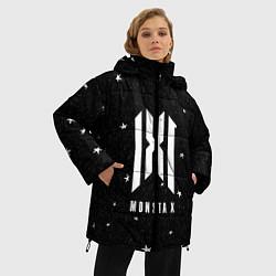 Женская зимняя 3D-куртка с капюшоном с принтом MONSTA X, цвет: 3D-черный, артикул: 10184586506071 — фото 2