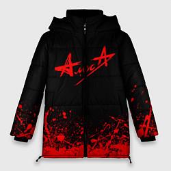 Куртка зимняя женская АлисА на спине цвета 3D-черный — фото 1