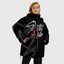 Женская зимняя 3D-куртка с капюшоном с принтом Stray Kids, цвет: 3D-черный, артикул: 10197054906071 — фото 2
