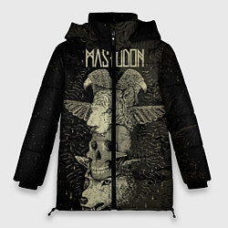 Женская зимняя 3D-куртка с капюшоном с принтом Mastodon, цвет: 3D-черный, артикул: 10197549106071 — фото 1
