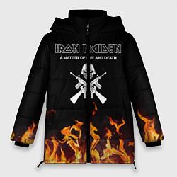 Женская зимняя 3D-куртка с капюшоном с принтом Iron Maiden, цвет: 3D-черный, артикул: 10199664906071 — фото 1