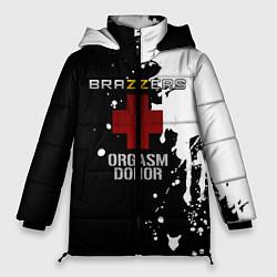 Женская зимняя 3D-куртка с капюшоном с принтом Brazzers orgasm donor, цвет: 3D-черный, артикул: 10211297506071 — фото 1