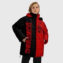 Женская зимняя 3D-куртка с капюшоном с принтом SCORPIONS, цвет: 3D-черный, артикул: 10212831306071 — фото 2