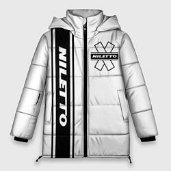 Женская зимняя 3D-куртка с капюшоном с принтом NILETTO, цвет: 3D-черный, артикул: 10213510706071 — фото 1