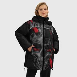 Женская зимняя 3D-куртка с капюшоном с принтом Megadeth, цвет: 3D-черный, артикул: 10218178706071 — фото 2