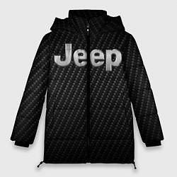 Женская зимняя 3D-куртка с капюшоном с принтом Jeep Z, цвет: 3D-черный, артикул: 10237245506071 — фото 1